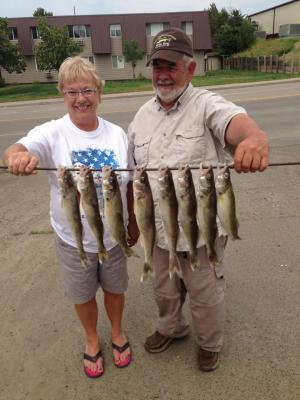 South Dakota Missouri River Fishing 7/5/2013