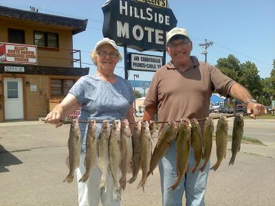 South Dakota Missouri River Fishing 7/10/2013